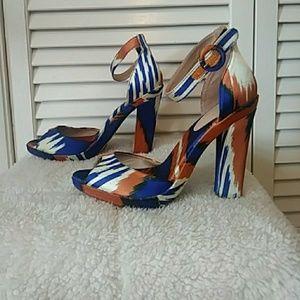 Zara Basic statement ankle strap heels